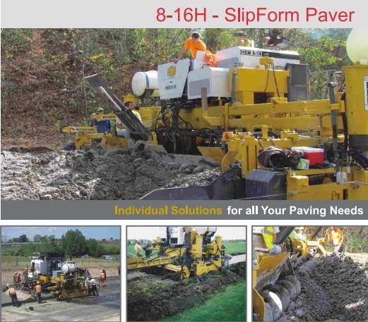 8-16H - SlipForm Paver